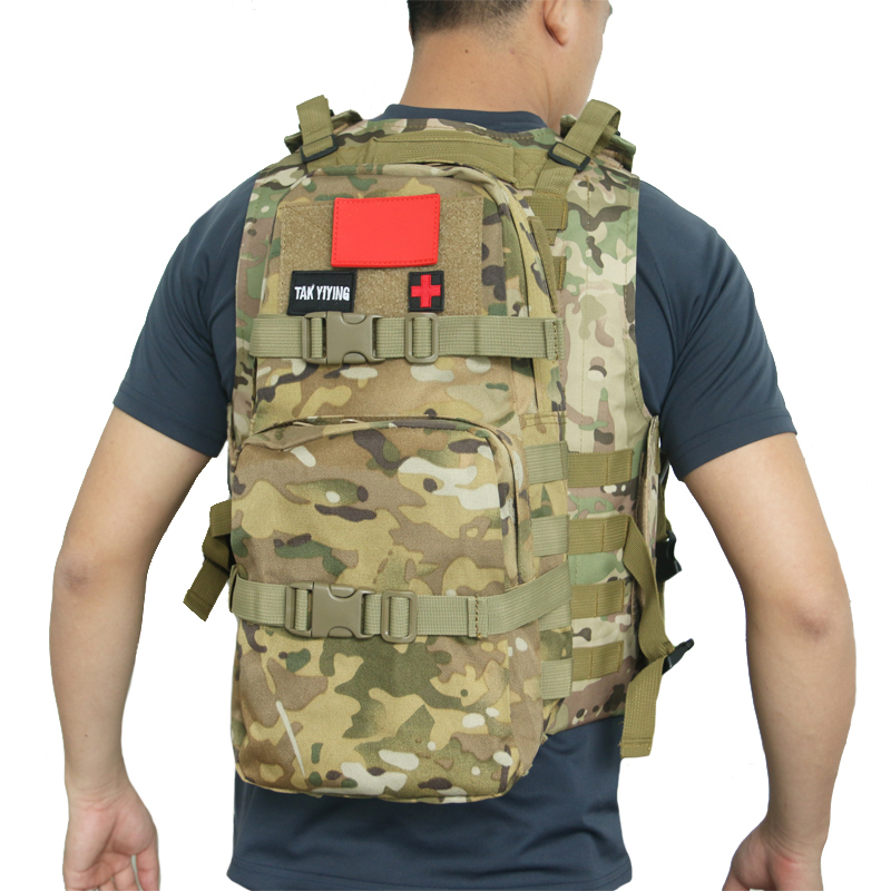 TAK YIYING <font><b>MBSS</b></font> 3L Hydration Pack Water Rucksack Backpack Molle Tactical Water Pack Pouch Outdoor Sport Camping Hiking Hunting image