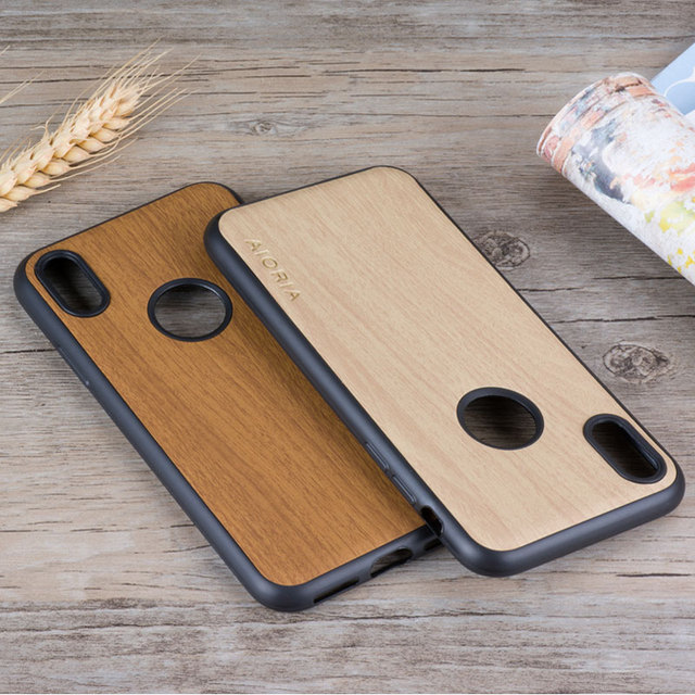 the latest 22cef 07d1e Aliexpress.com : Buy for iphone x case wood pattern leather coque skin with  soft silicone classical Vintage cover phone cases for iphone x funda capa  ...