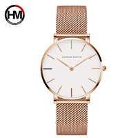 relogio feminino Luxury Brand Watch Women's Quartz Watches Rose Gold Steel Mesh Ladies Wrist Watches 36mm Waterproof Clock xfcs