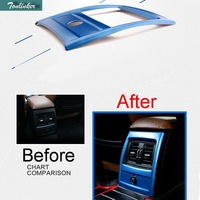 1 PCS Car New DIY Stainless Steel Three Color Rear Vents Light Box Cover Case For
