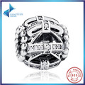 2016 Hot Sell 925 Sterling Silver Bow-knot Crystals Charm Fit Pandora Bracelet Women DIY Jewelry Wedding Gift Free Shipping