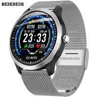 Beseneur ECG Watch Smart PPG Heart Rate Monitor Bluetooth Watches Blood Pressure Smartwatch Men Women IP67 Waterproof Wristwatch