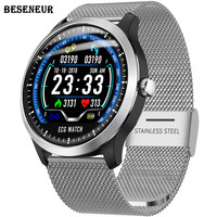Beseneur ECG Watch Smart PPG Heart Rate Monitor Bluetooth Watches Blood Pressure Smartwatch Men Women IP67 Waterproof Wristwatch