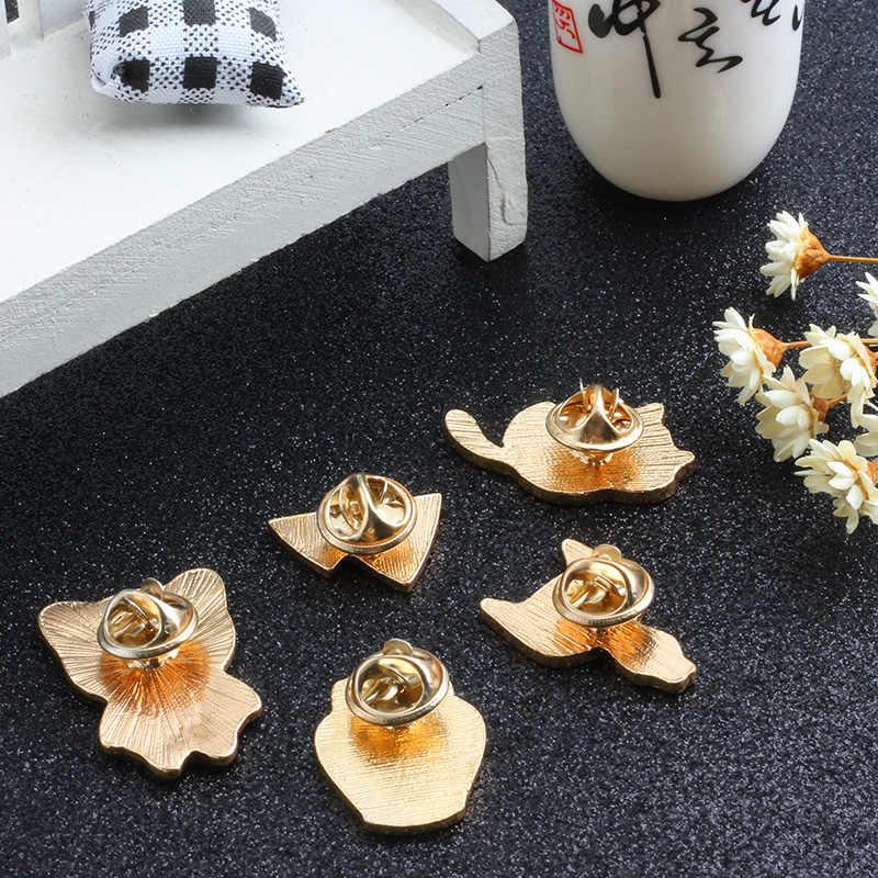 Leuke Cartoon Dieren Broche Zwart Panda Cat Hill Emaille Pins Voor Vrouwen Mannen Denim Jassen Revers Pin Hoed Metalen Badge sieraden Geschenken