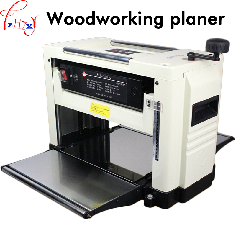 цена Desktop multi-purpose press planer JTP-31801 single surface light planer woodworking machinery thicknessing planer 220V