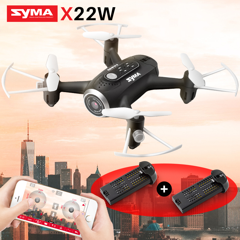 SYMA X22W RC Drone With Camera FPV Wifi Real Time Quadrocopter RC Helicopter APP Control Headless Mode Dron Toys For Children