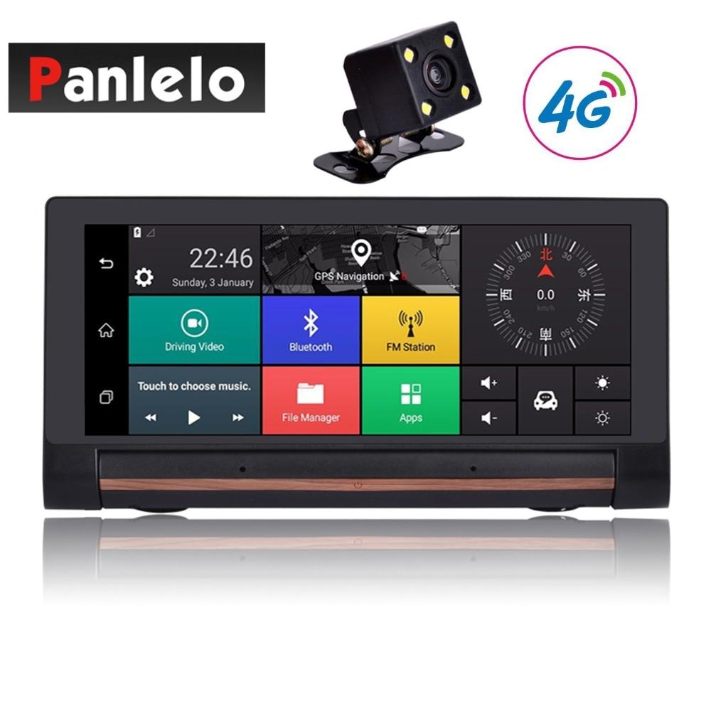 Автомобиль тире Камера DVR 6,86 3g/4G Android 5,0 WI-FI 1080 P видео Регистраторы музыкальный плеер автомобиля gps навигации Bluetooth G-Сенсор 1 ГБ