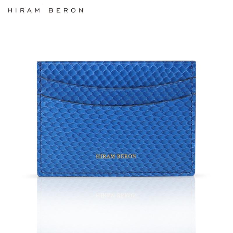 Hiram Beron NOM FAIT SUR COMMANDE LIBRE python peau titulaire de la carte de crédit de luxe véritable cadeau en cuir de mode designer titulaires livraison directe