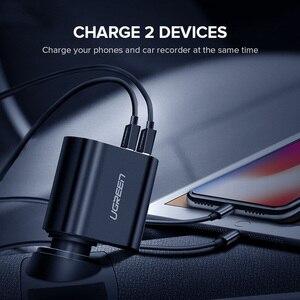 Image 3 - Ugreen Adaptador de cargador de coche, Cargador USB de carga rápida 3,0 Dual, 60W, para iPhone X, 8, Samsung Galaxy S9, S8, LG, V20
