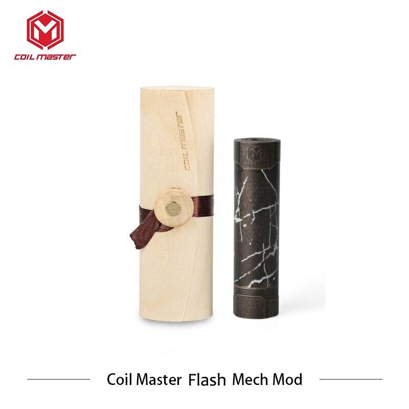 Original bobine Master Flash Mech Mod mécanique Mod 510 fil vaporisateur 18650 batterie Cigarettes électroniques Vs Vgod Mech Mod