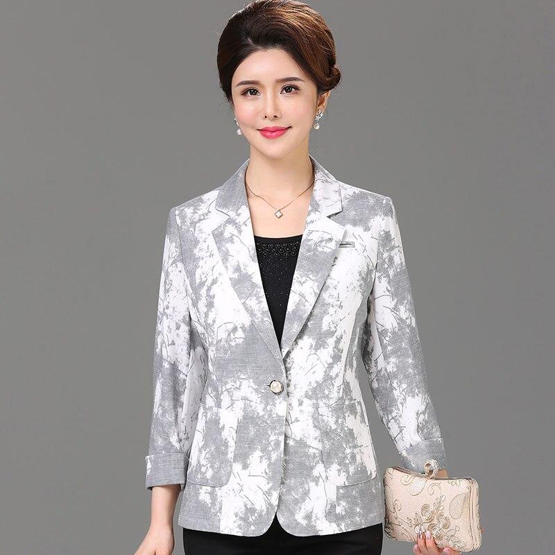 2019 été nouveauté cool mince blazers femmes motif imprimé grande taille simple bouton slim court vestes sans doublure