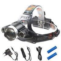T6 + 2Q5 long-range cabeça da lâmpada ao ar livre luz de trabalho luz de pesca