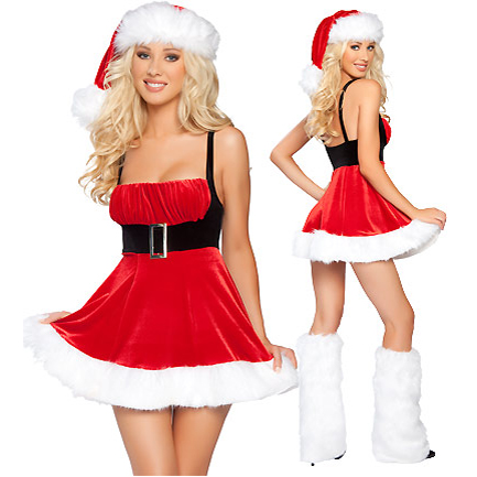 UTMEON  Sexy Women Christmas Dress Costumes Santa Claus For Adults Cosplays For Christmas