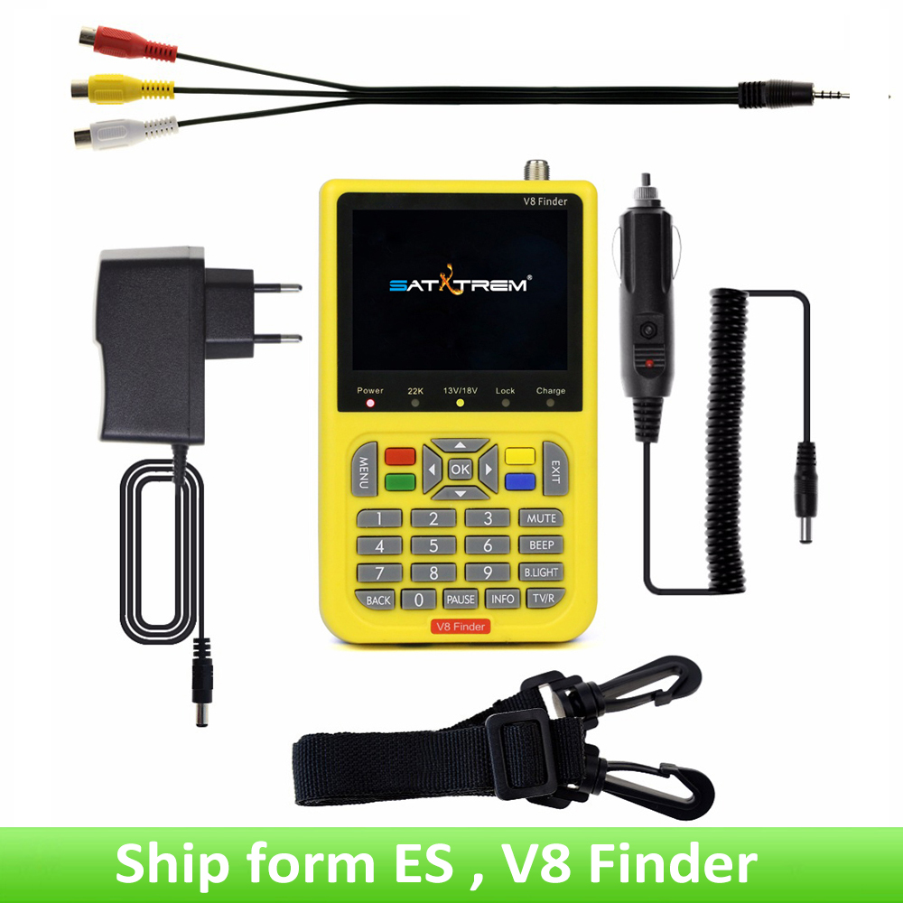V8 Finder HD DVB-S2 High Definition Satellite Finder MPEG-4 DVB S2 Satellite Meter Satfinder Full 1080P Finder VS WS-6933 satlink ws 6979se satellite finder meter 4 3 inch display screen dvb s s2 dvb t2 mpeg4 hd combo ws6979 with big black bag