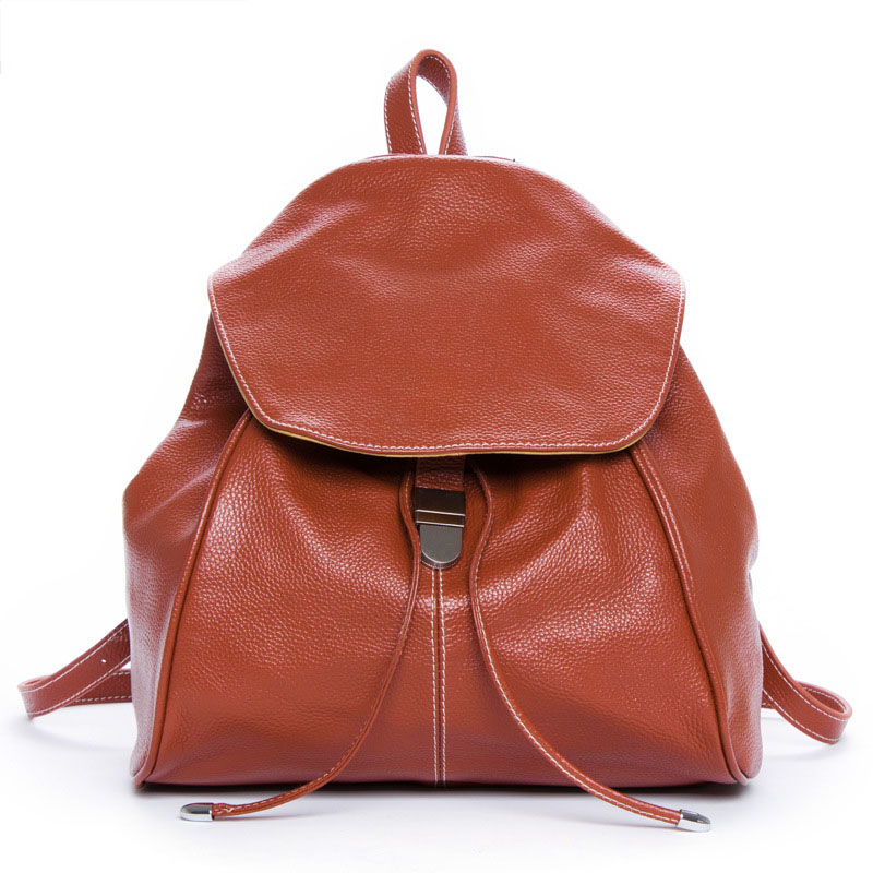 ФОТО 2016 new fashion women bags natural genuine leather women backpack the first layer cowhide casual shopping shoulder bags