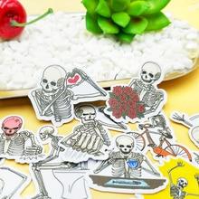 20/40pcs Fun Man Skull Art Life Decoration Scrapbook Paper Sticker DIY Craft Sticker Photo Diary Decoration