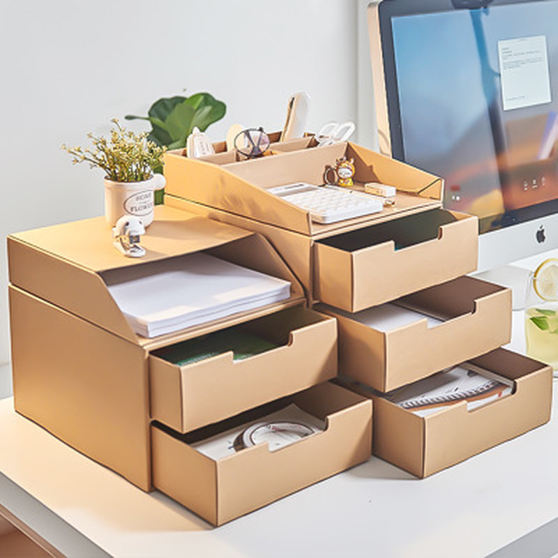 Kraft Paper Drawer Office File Storage