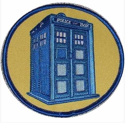 """4 """"la caja de policía Doctor Who Tardis serie de TV punk rockabilly apliques coser/hierro en parche al por mayor envío Gratis"""