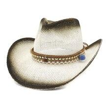 f95d48ed BUTTERMERE señoras sombrero de sol Bola de vaquero decorar sombreros de paja  de verano para mujeres blanco arco viaje playa Muje.