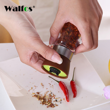 WALFOS Salt Pepper Mill Grinder Seasoning Muller Kitchen Accessories Tools Cookware Spice Gadget Pepper Shaker cooking tools manual molino de pimienta shaker kitchen food garlic spice salt black pepper mill muller grinder