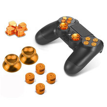 Metal Bullet Knoppen Abxy Knoppen + Duimknoppen Thumb Grip En Chroom D-Pad Voor Sony PS4 Dualshock 4 Controller mod Kit(China)