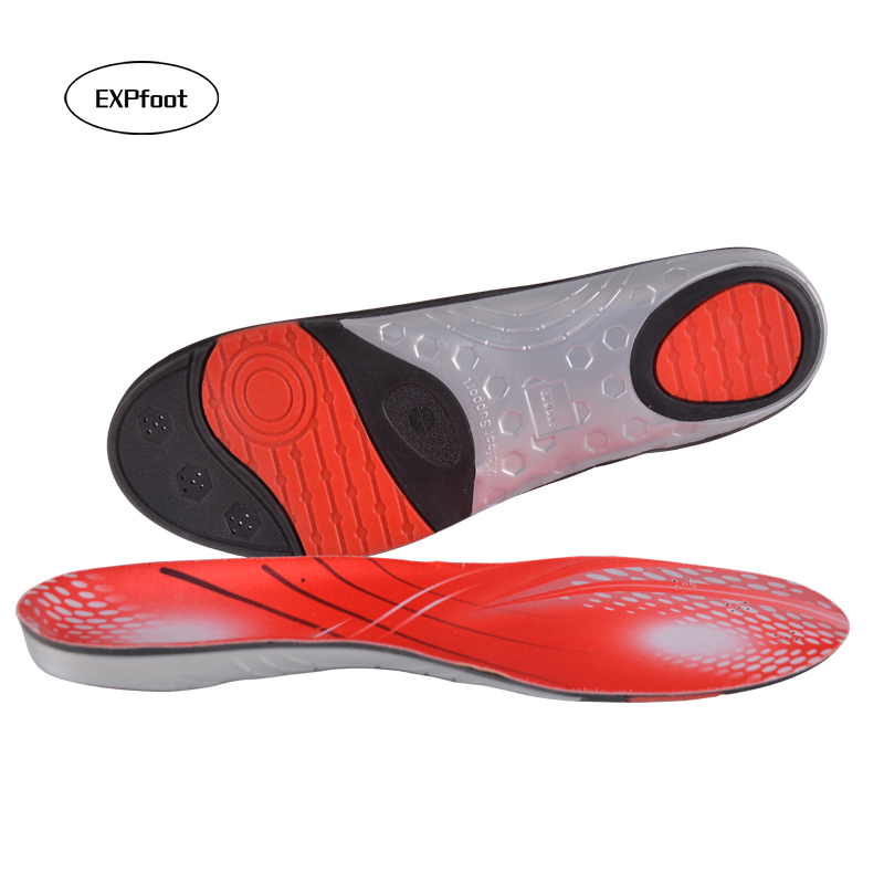 EXPfoot Arch Support Shock Absorption Insole Foot Massage Insole For Man And Women Casual Shoes Plantar Fasciitis Heel Insole