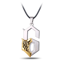 Hot Anime Bleach Metal Necklace Grimmjow Jeagerjaques Pendant Cosplay Accessories Jewelry