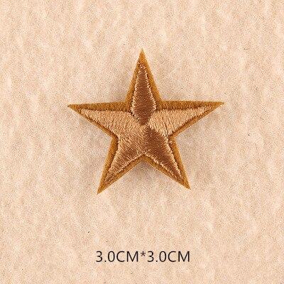 1 шт. смешанные нашивки со звездами для одежды, железная вышитая аппликация, милая нашивка эмблема на ткани, одежда, аксессуары для одежды DIY 61 - Цвет: 61L