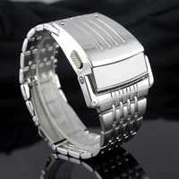 Électronique 2017 nouveaux hommes numérique grande montre-bracelet fer homme Style LED affichage montres hommes en acier inoxydable bande Relogio militaire