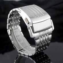 Электронные Новинка 2017 года для мужчин цифровой большие наручные часы Железный человек стиль светодио дный дисплей часы нержавеющая сталь