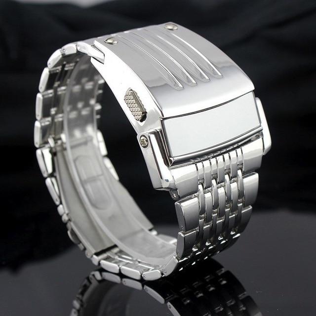 Electronic 2017 New Men Digital Big Wrist Watch Iron Man Style LED Display Watch