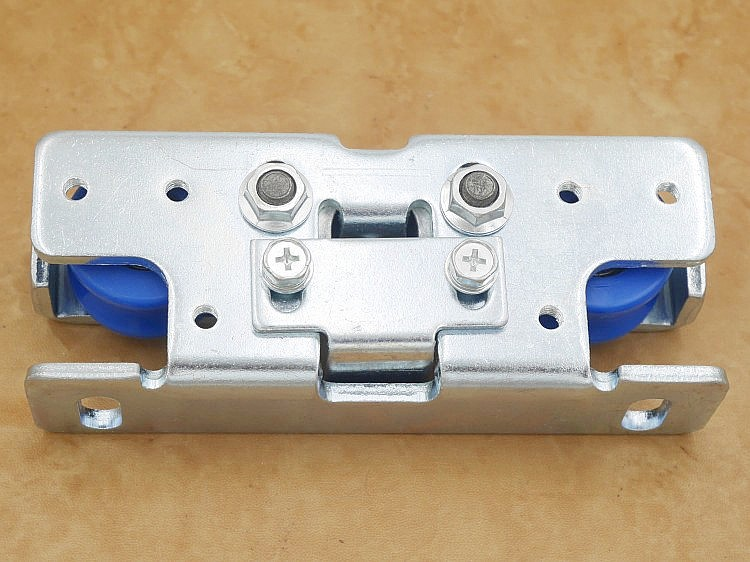 Livraison gratuite poulie de porte automatique opérateur porte coulissante rouleau suspendu automatique porte épandeur capteurs roue matériel partie - 4
