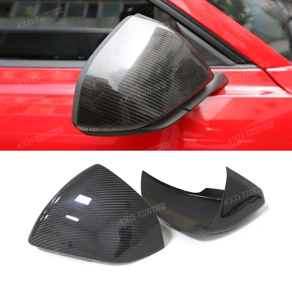 Add on style For Ford Mustang Euro Model Car Carbon Fiber Rear View Side Mirror Cover with Tuning Single Light 2014 2015 2016-UP стоимость