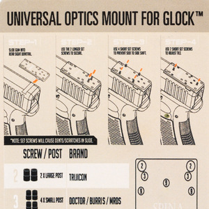 Image 5 - Glock Hinten Anblick Platte Poröse Basis Montieren Fit Universal Red Dot Anblick Pistole Zubehör