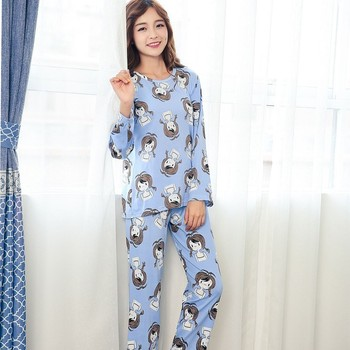 c03f162eda New Listing WAVMIT 2017 Autumn Winter Pyjamas Women Carton Pijama Pattern  Pajamas Set Thin Pijama Mujer Sleepwear Wholesale