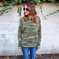 Fashion Army Camouflage T Shirt Women Long Sleeve Women T-Shirts O Neck Tops Tshirt Tees