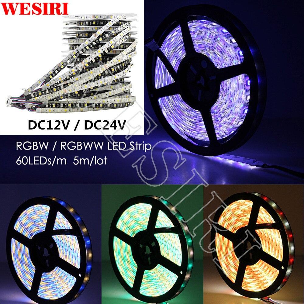 24v Flexible Led Light Rgb+white Rgb+warm White 60 Led/m Ip30/ip65/ip67 5m/lot 5050 Rgbw Mixed Color Led Strip Dc 12v