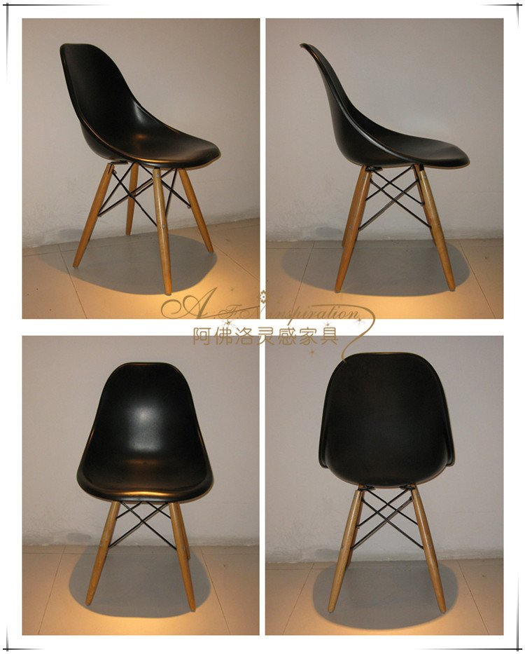 Fashionable Dining Chair Modern Minimalist Eames Coffee