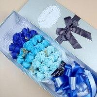 10 Tipos de Cerimônia de Casamento Do Presente Do Valentim 33 Pcs Arifical Soap Rose Design Criativo Presentes Românticos de Rosas