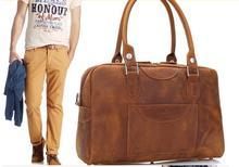 2016 Fashion crazy horse leather bag men business bag leather document bag luxury leather bag
