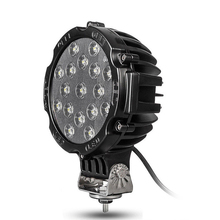 """2""""x 7"""" 51W Round Off Road Led Work Lights  Truck Bumper Driving Black"""