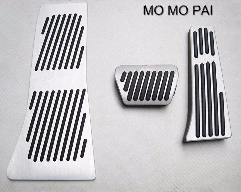 3 pièces adapté pour BMW X5 X6 2014-2016 Auto pédale en aluminium Set à pédale antidérapant automatique - 3