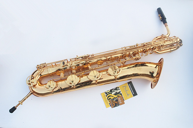 EMS Free Shipping Selmer baritone saxophone 54 straight professional gold Eb Sax mouthpiece with case and