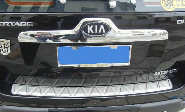 for 2006 2012 KIA Sportage High quality stainless steel Rear bumper Protector Sill
