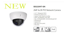 Free Shipping DAHUA 2016 Security Camera IP Camera 2MP Full HD Mini Network PTZ Dome Camera with POE without Logo SD22204T-GN