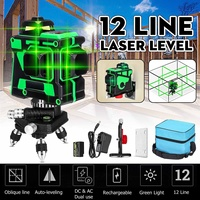 12 Lines 3D Green Laser Level Self Leveling 360 Degre Horizontal And Vertical Cross Lines Green Laser Line With Tripod Battery