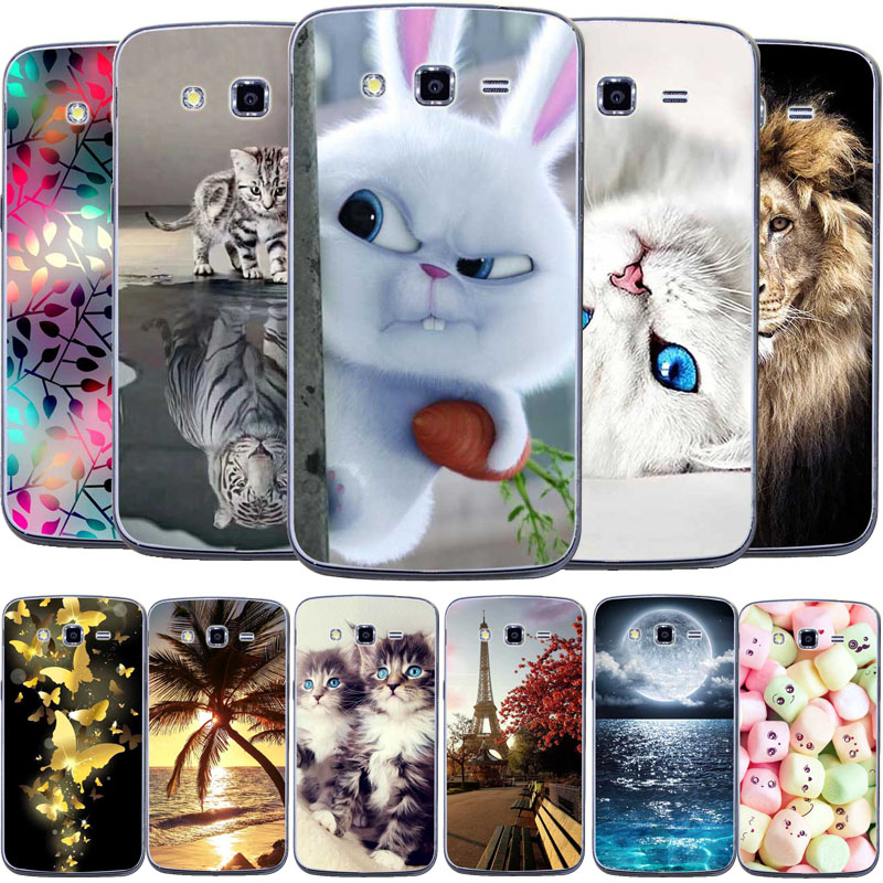 Soft TPU 3D Pattern Case For Samsung Galaxy Grand 2 G7106 G7108 G7102 G7109 7106 7018 7102 Phone Case Cover Silicone fundas image