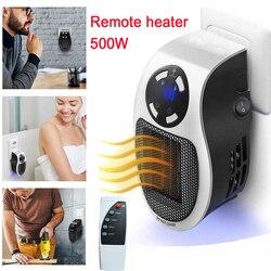 22%, elettrico a distanza a portata di mano riscaldatore 10A 220 V 500 W riscaldamento Veloce Mini Desktop di Parete Stufa Radiatore Più Caldo Macchina con tutti i spina