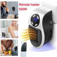 22%, remote Elektrische handliche heizung 10A 220 V 500 W Schnelle heizung Mini Desktop Wand Herd Kühler Wärmer Maschine mit alle stecker