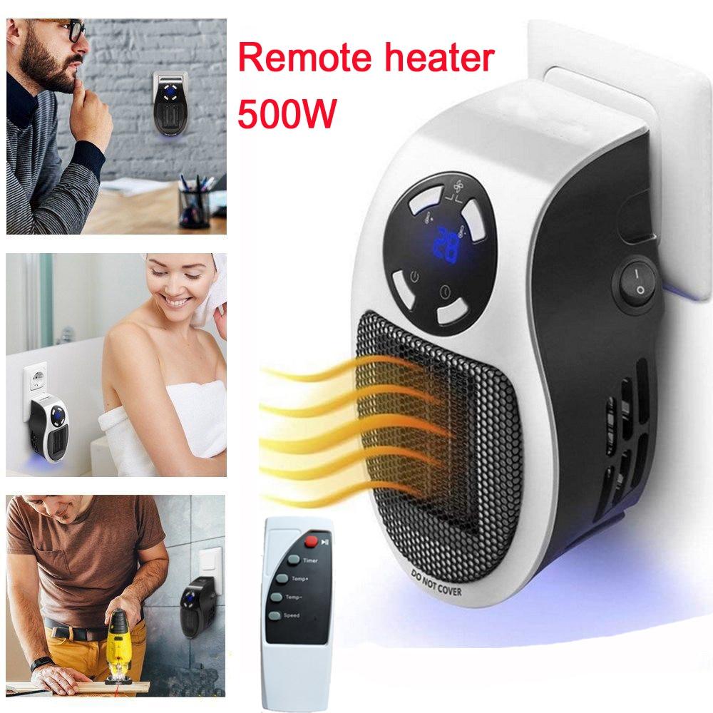 22% remote Listrik Berguna Pemanas 10A 220 V 500 W Pemanasan Cepat Mini Dinding Desktop Kompor Radiator Hangat Mesin dengan Semua plug